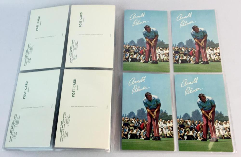 Vintage c. 1970 Lot of 12 Arnold Palmer Postcards