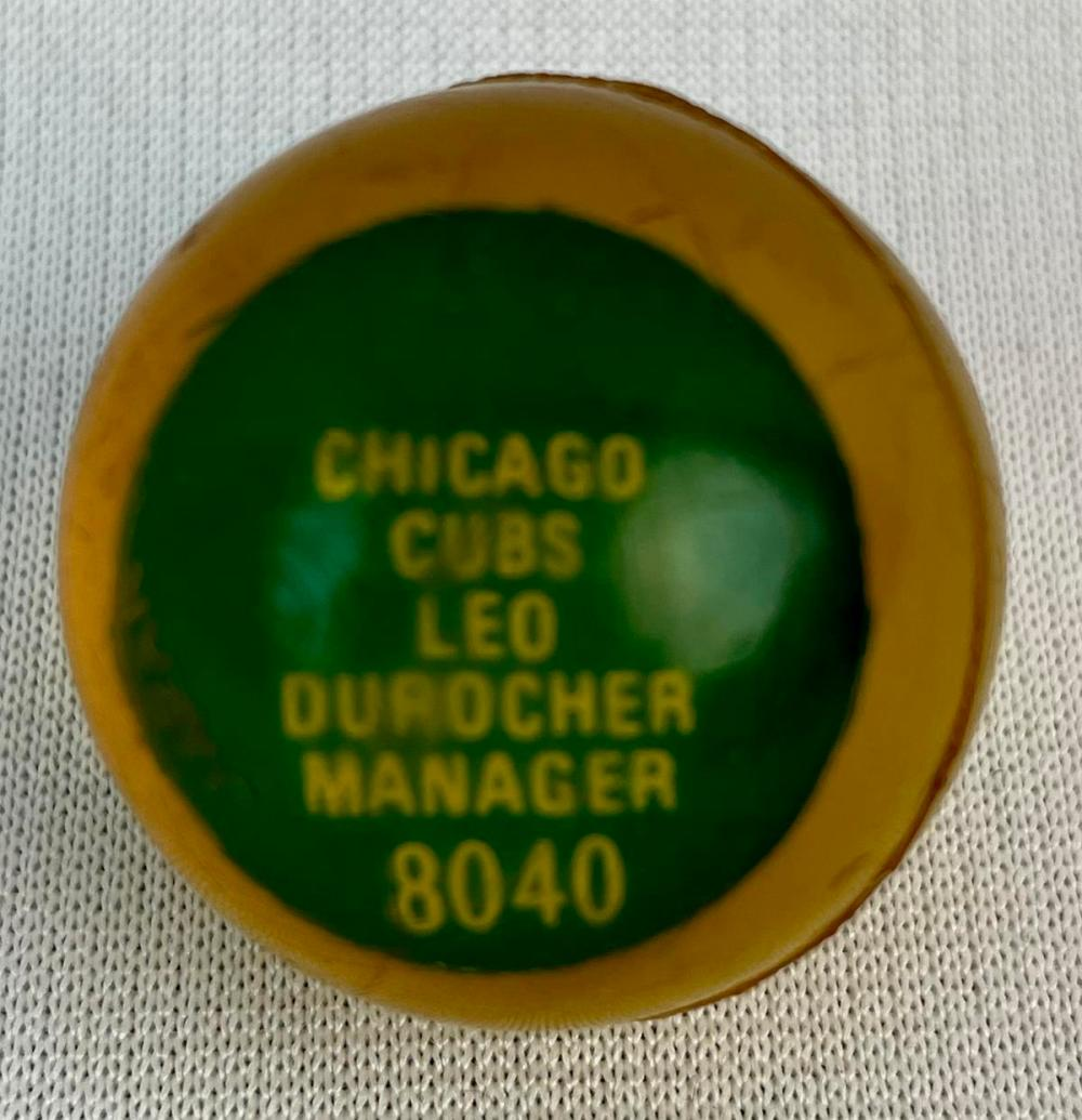 Vintage 1970 Chemtoy 8040 Baseball Superball Leo Durocher Chicago Cubs Manager