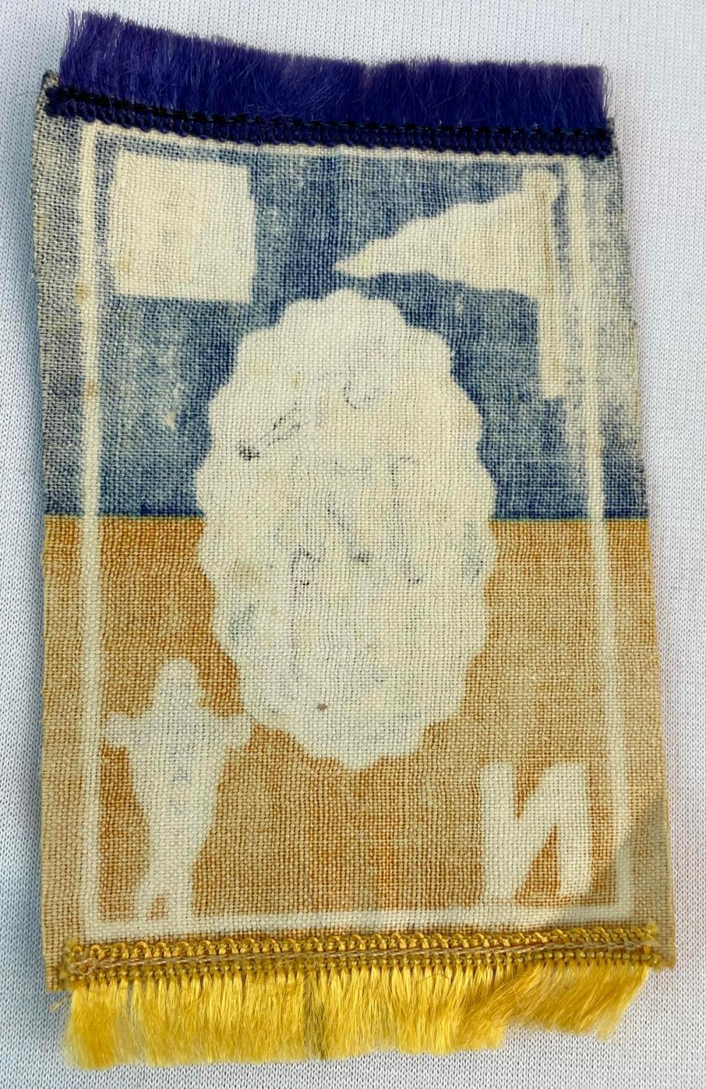 Antique 1910 Navy Midshipmen Track Murad Tobacco Felt Rug B33 Naval Academy