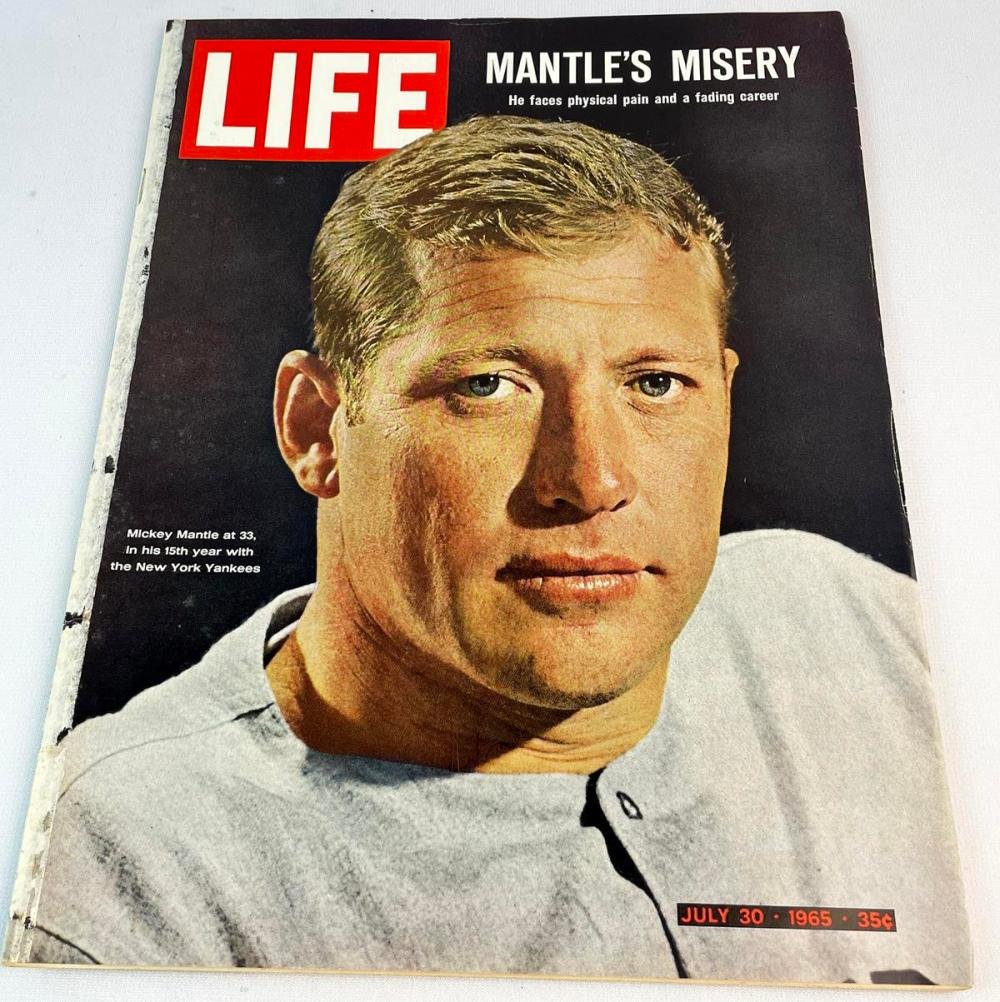 Life Magazine July 30, 1965 Mickey Mantle Cover