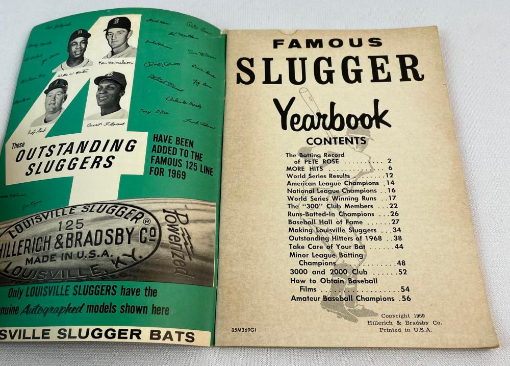 1969 Louisville Famous Slugger Yearbook More Hits by Pete Rose