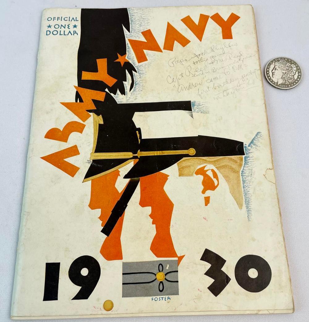 1930 Army vs. Navy College Football Game Program