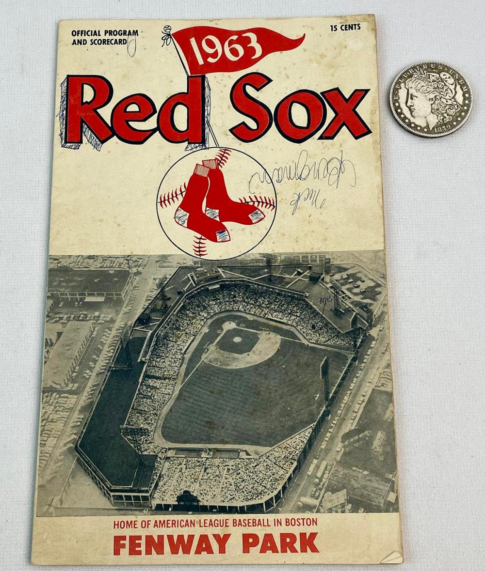 1963 Red Sox vs. New York Yankees Official Program & Score Card (Mantle, Maris, Yaz)