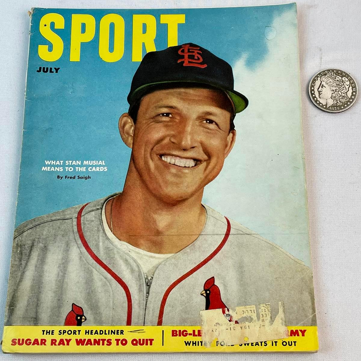 July 1952 Sport Magazine w/ Stan Musial Cover