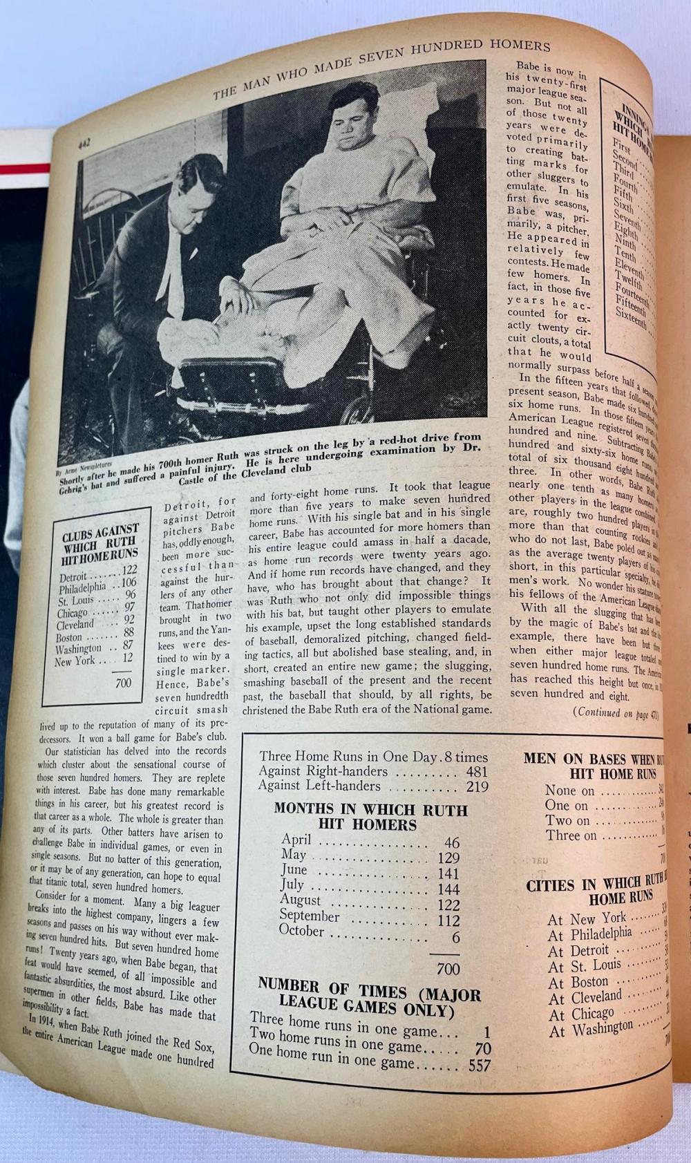 September 1934 Baseball Magazine (The Man Who Made 700 Home Runs, Babe Ruth Article)
