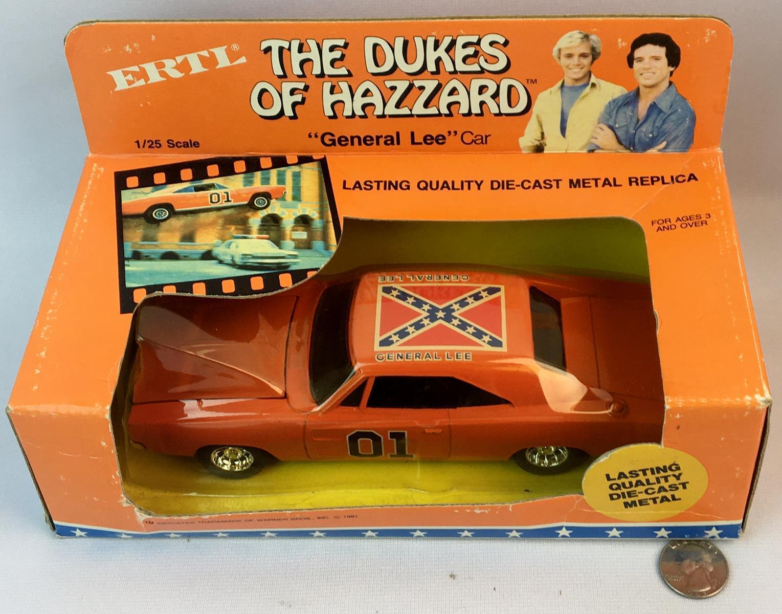 "Vintage 1981 The Dukes of Hazzard ""General Lee"" 1/25 Scale Die-Cast ERTL Car UNOPENED"