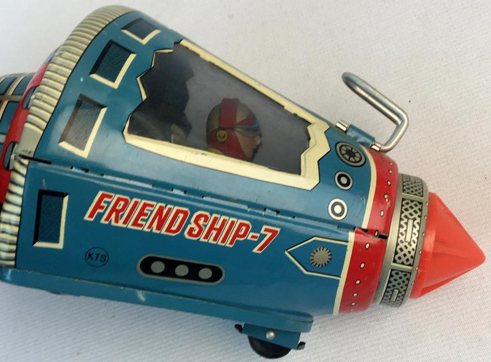 Vintage 1960's SH Horikawa Japan Tin Litho Friction Space Capsule