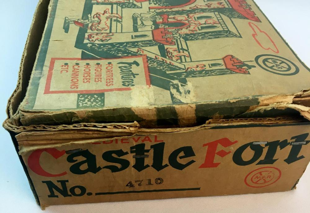 Vintage 1950's Marx Medieval Castle Fort Playset w/ Original Box