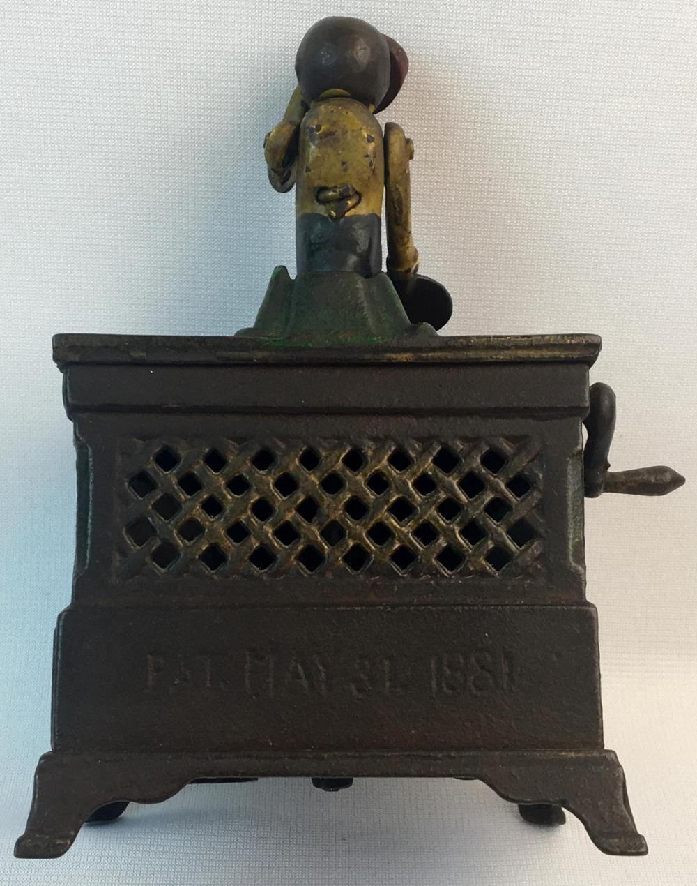 Antique 1881 Kyser & Rex Co. Hand Painted Cast Iron Mechanical