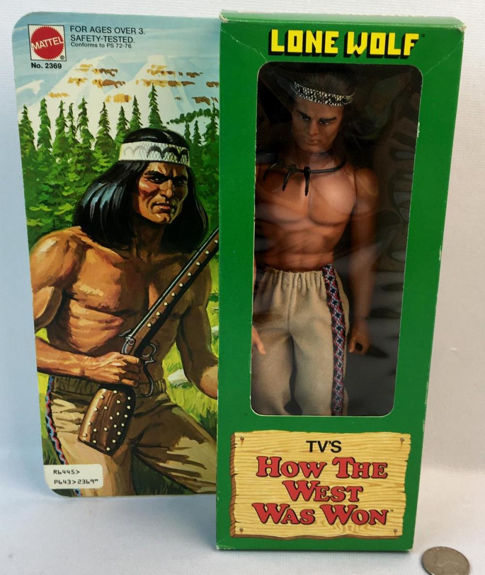 """Vintage 1978 Mattel TV's How The West Was Won """"Lone Wolf"""" Action Figure UNOPENED"""