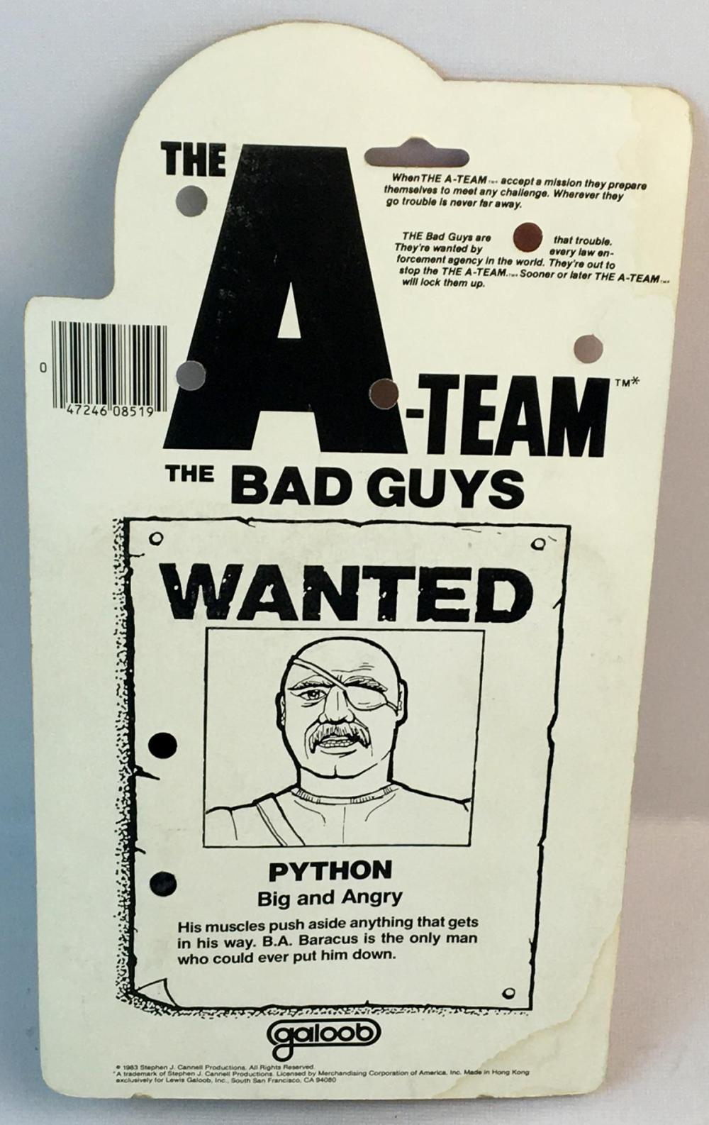 Vintage 1983 The A-Team The Bad Guys