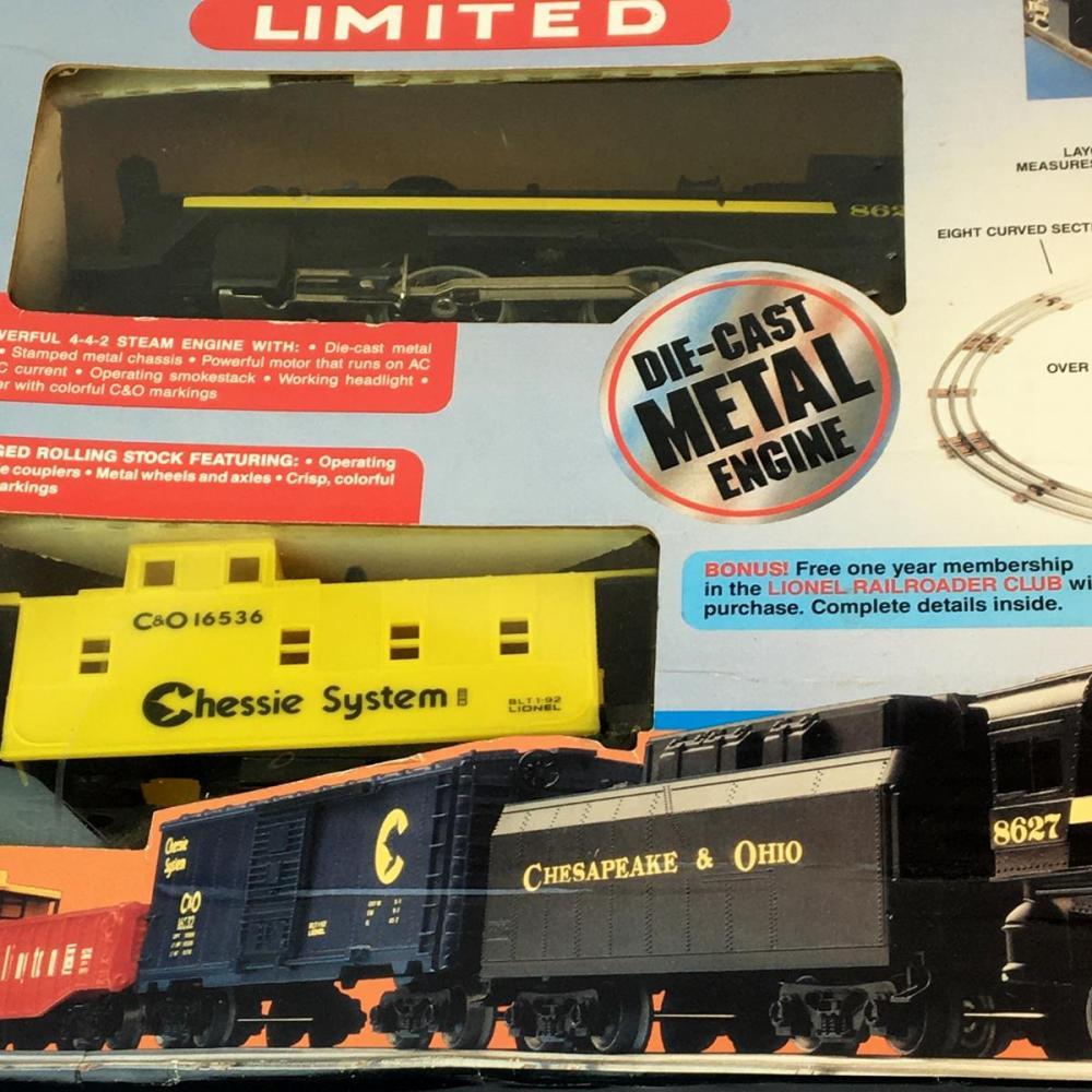 Vintage 1992 Lionel Train Big Rugged 027 Gauge Coastal Limited w/ Box COMPLETE