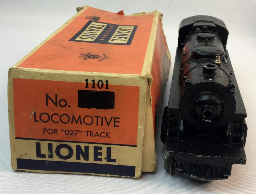 Vintage 1948 Lionel Columbia Type 2-4-2-Locomotive No. 1101 Engine and #2046W Lionel Lines Tender w/ Boxes