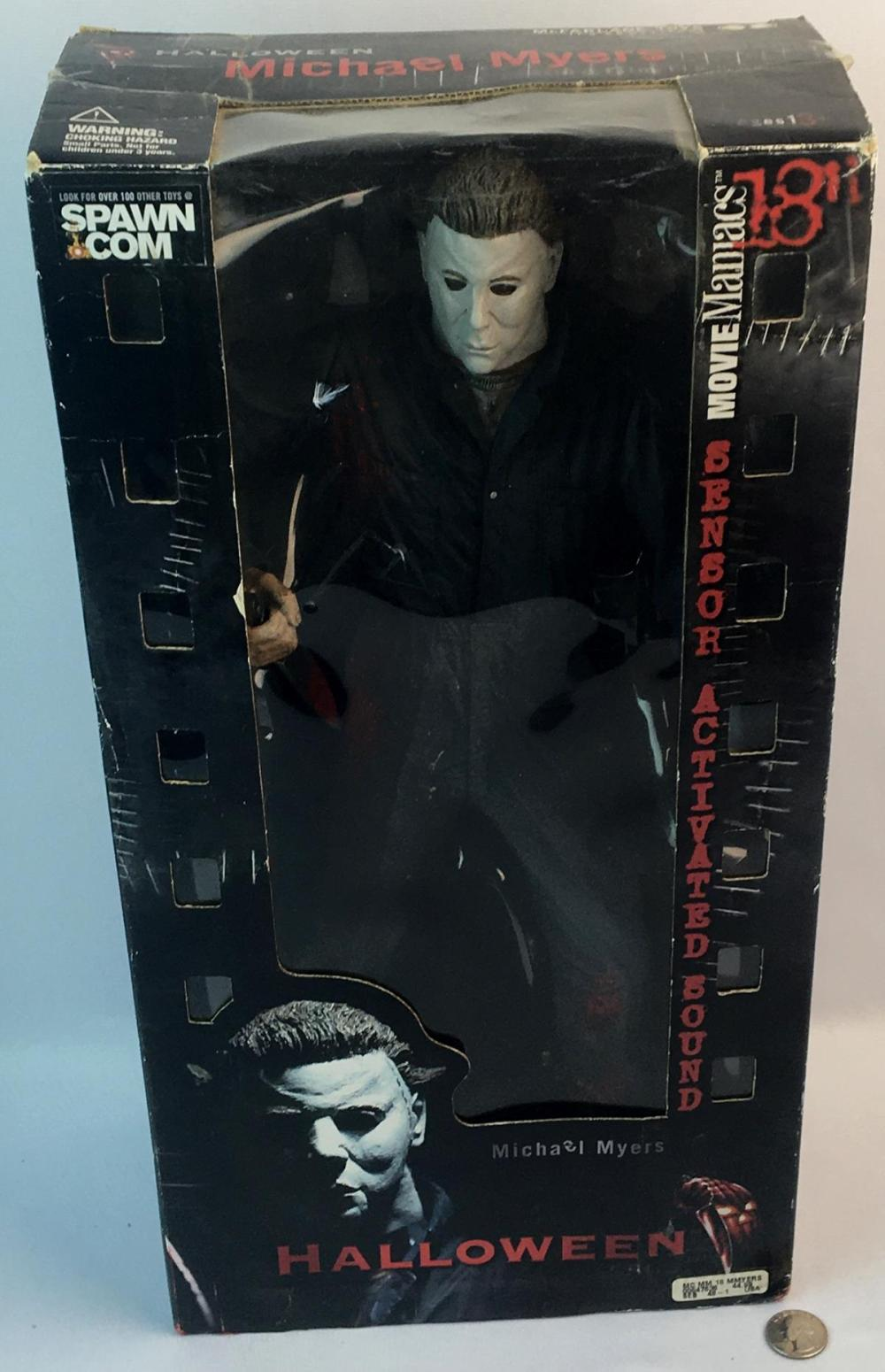 "2000 Spawn Halloween Michael Myers Sensor Activated Sound Figure 18"" Tall"