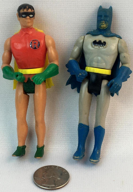 "Vintage 1975 Batman & Robin Mego Pocket Heroes 4"" Tall"