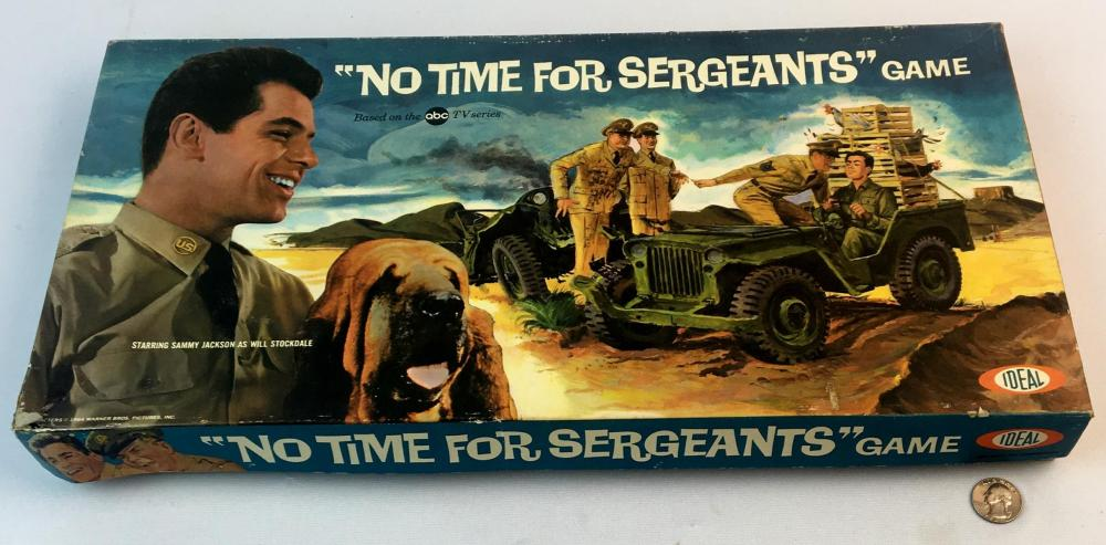 """Vintage 1964 """"No Time For Sergeants"""" Ideal Board Game COMPLETE"""