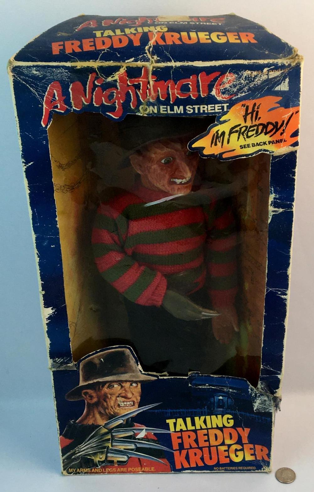 "Vintage 1989 Nightmare on Elm Street Talking Freddy Krueger Doll 18"" Tall WORKS New in Box"