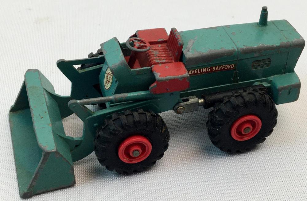 Vintage 1970's Matchbox King Size No. 10 Aveling-Barford Tractor Shovel