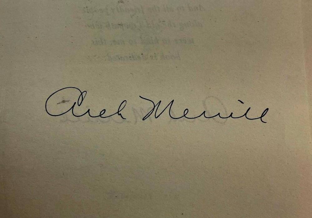 1945 The Towpath by Arch Merrill w/ Dust Jacket Photo Illustrated First Edition SIGNED