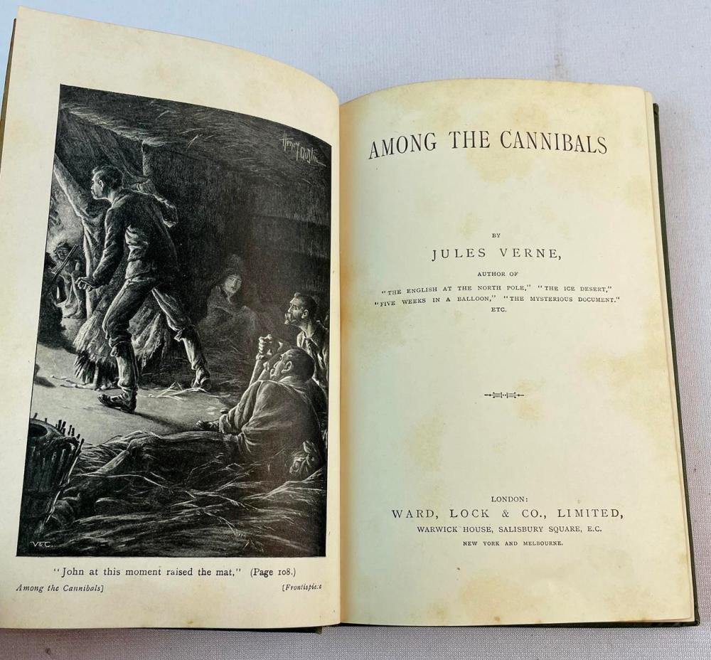 Among the Cannibals by Jules Verne c. 1890