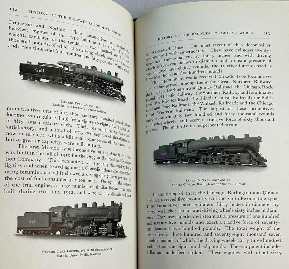 1914 History of The Baldwin Locomotive Works 1831 - 1913 ILLUSTRATED