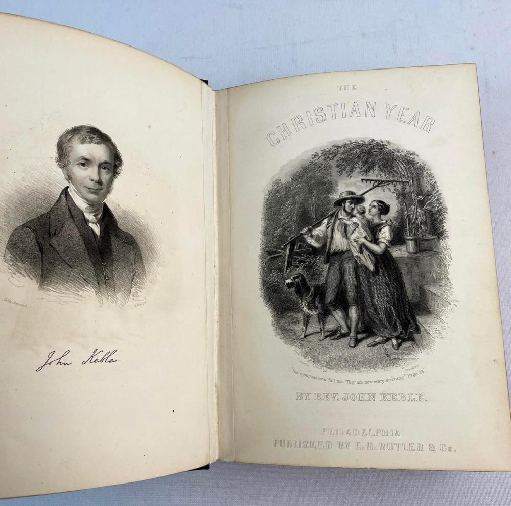 1864 The Christian Year by Rev. John Keble ILLUSTRATED