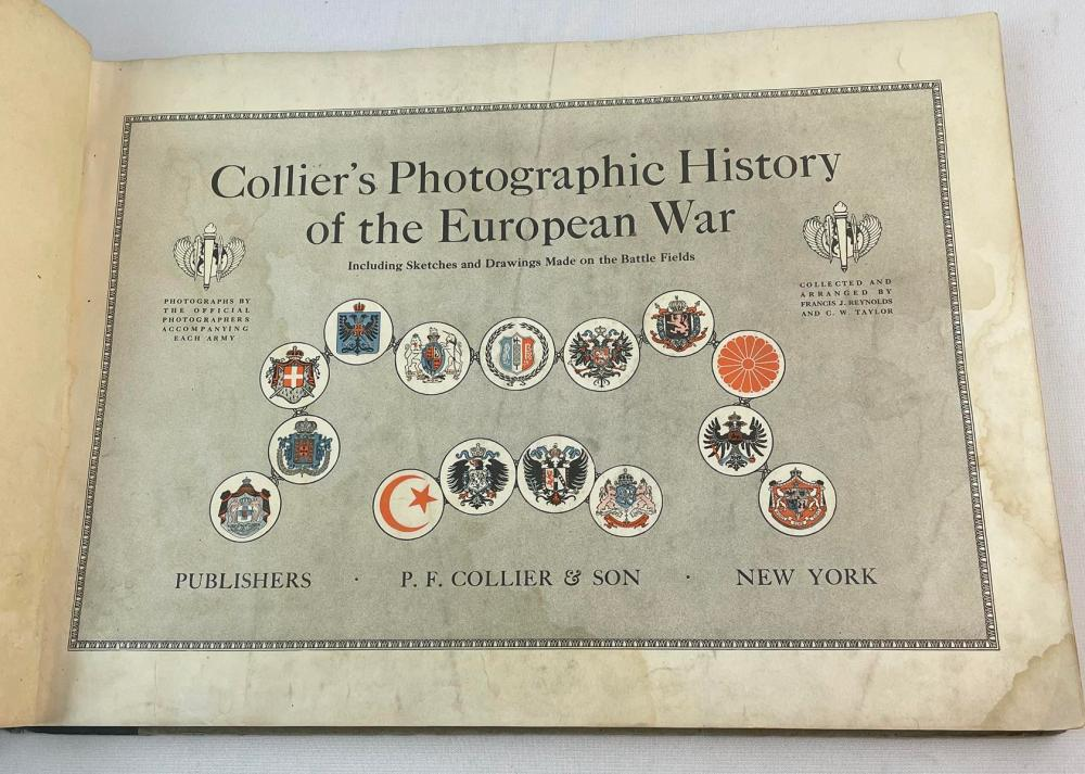 1916 Collier's Photographic History of the European War Photo Illustrated FIRST EDITION