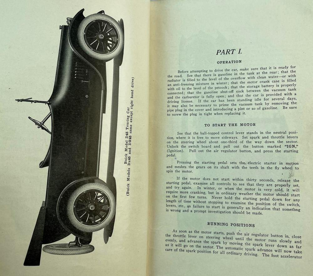 1916 Buick Models Reference Book by The Engineering Department Illustrated FIRST EDITION