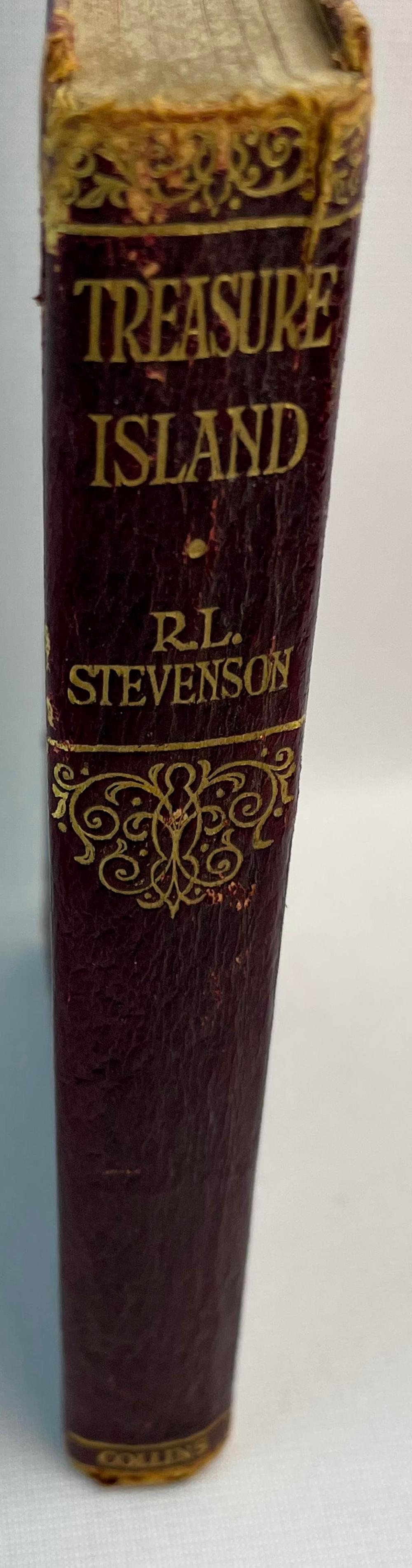 Treasure Island by Robert Louis Stevenson c. 1890 ILLUSTRATED