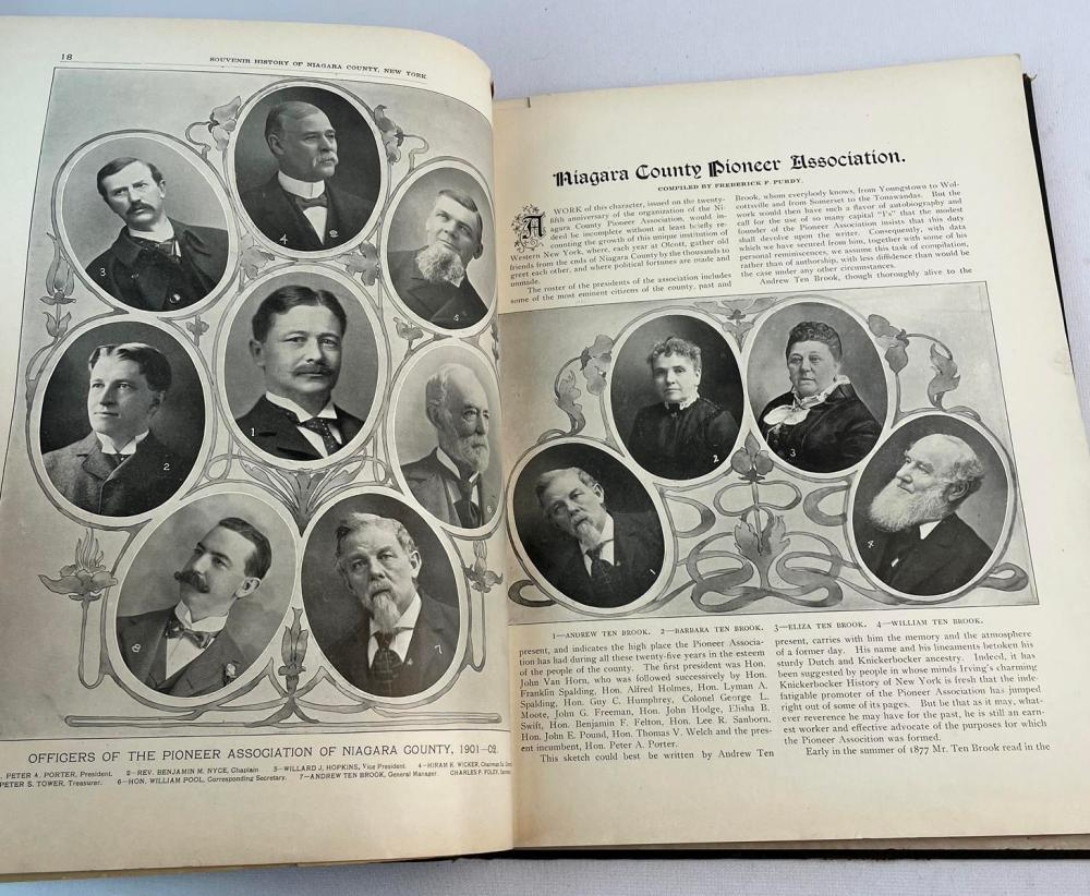 1902 Souvenir History of Niagara County New York: Commemorative of the 25th Anniversary of Pioneer Association of Niagara County FIRST EDITION