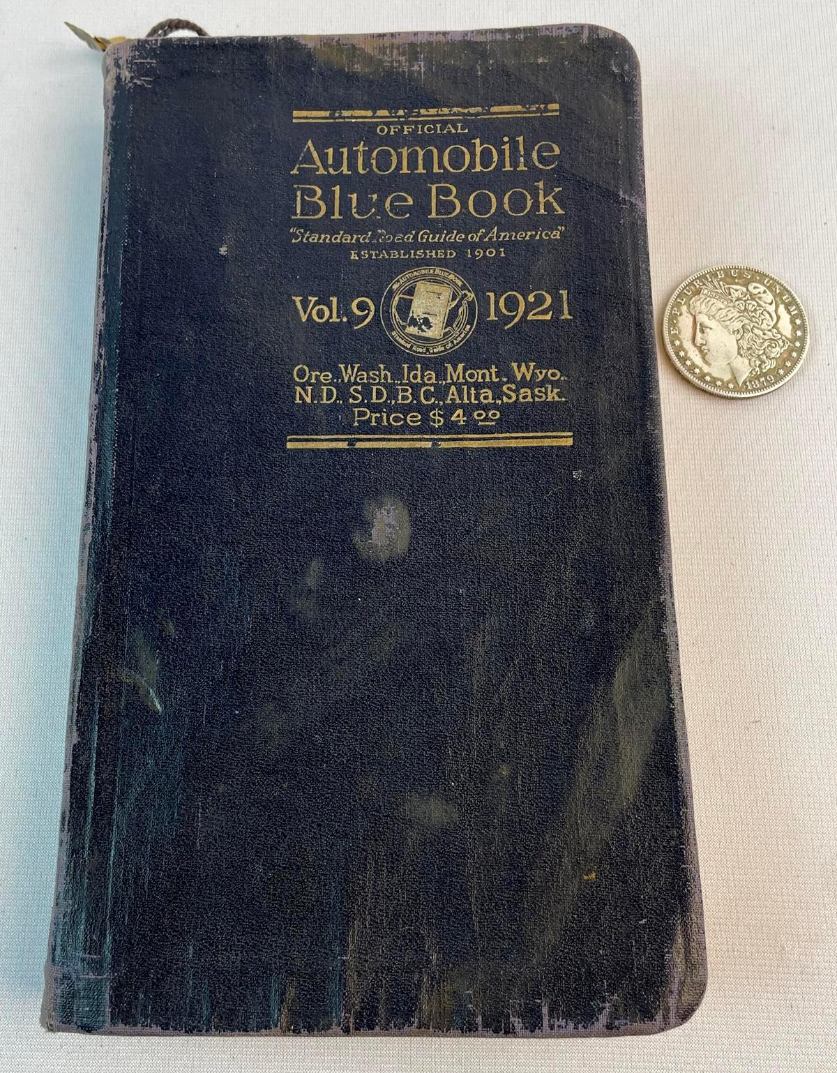 1921 Official Automobile Blue Book Vol. 9 ILLUSTRATED
