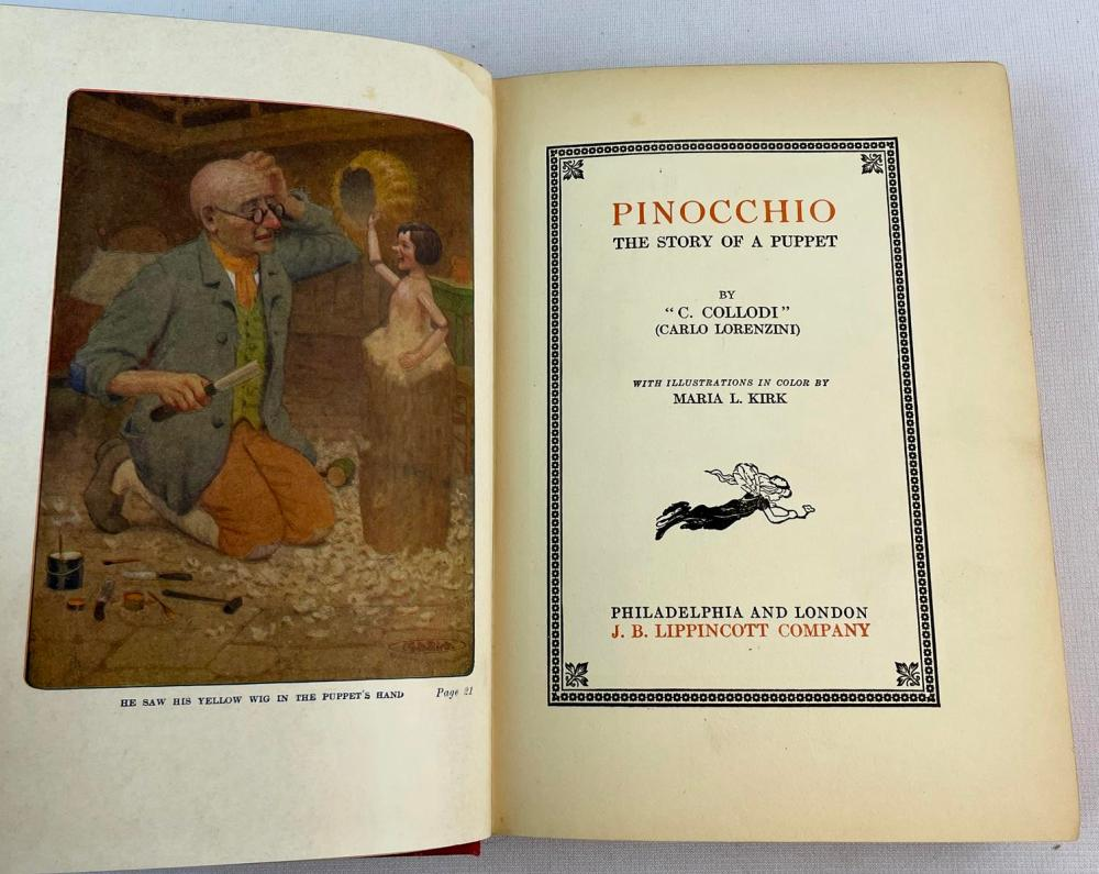 1919 Pinocchio: The Story of a Puppet by C. Collodi (Carlo Lorenzini) ILLUSTRATED