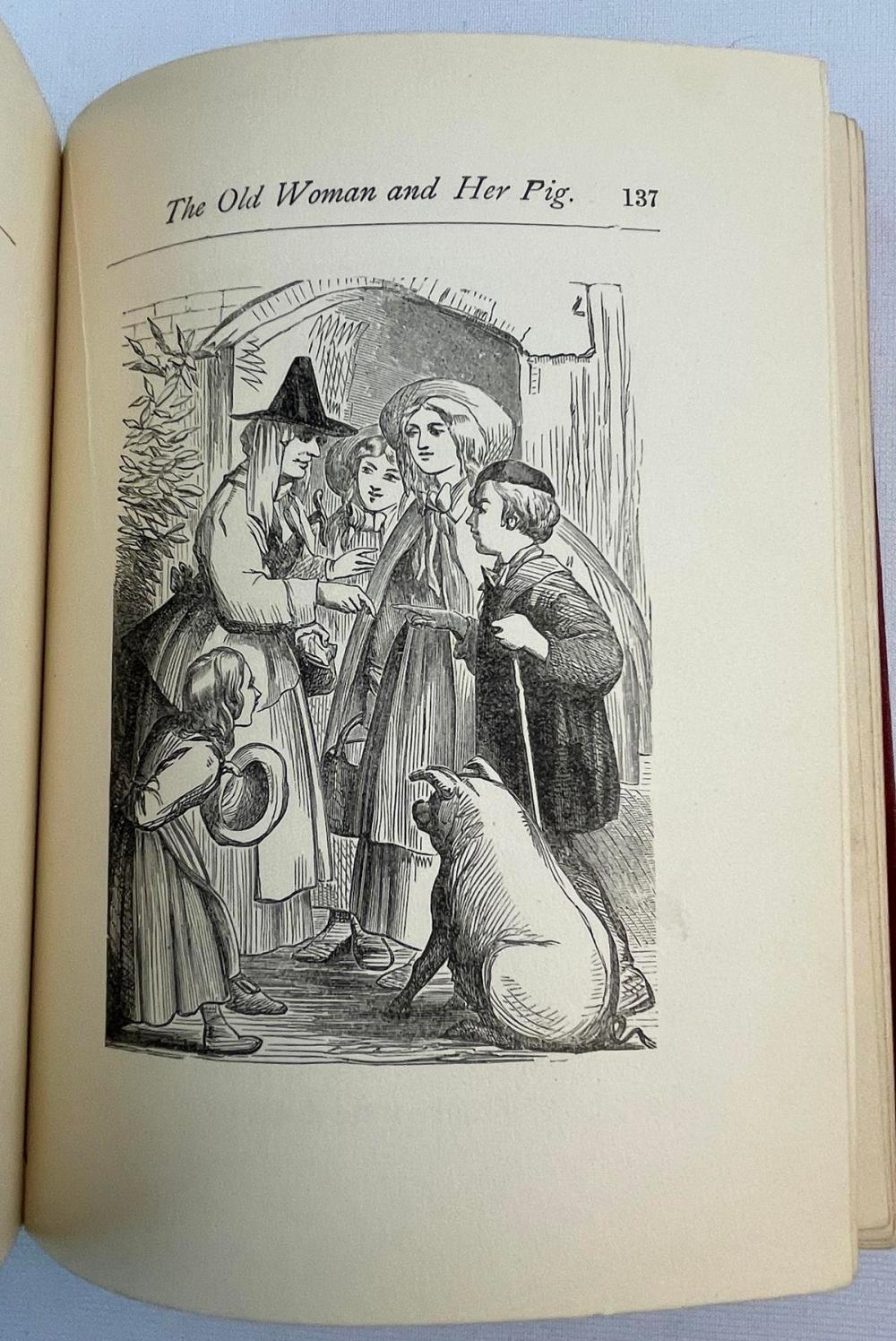 Mother Goose Nursery Rhymes: A Collection of Alphabets, Rhymes, Tales and Jingles c. 1900 ILLUSTRATED