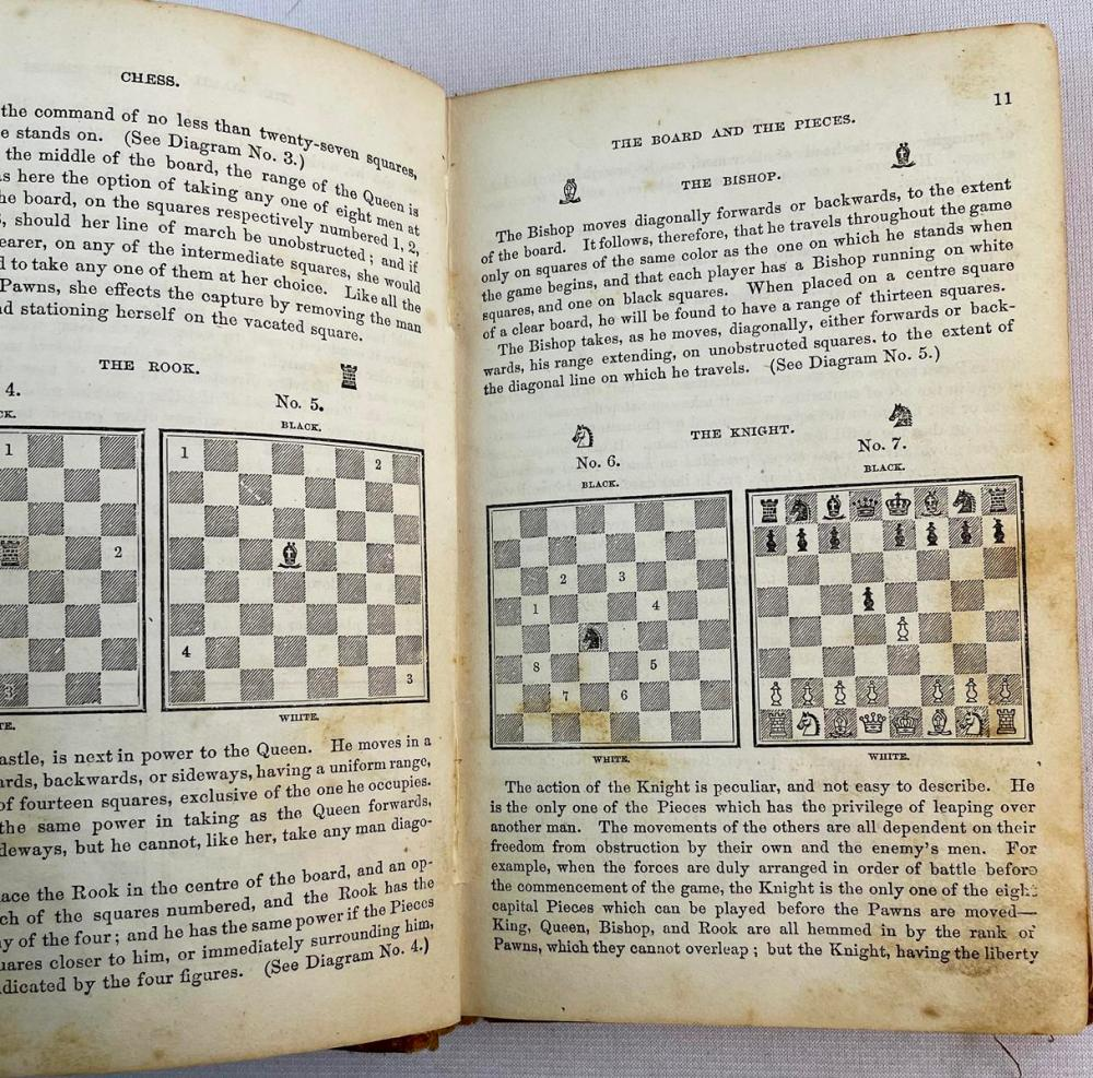 1866 Marache's Manual of Chess by N. Marache Illustrated FIRST EDITION