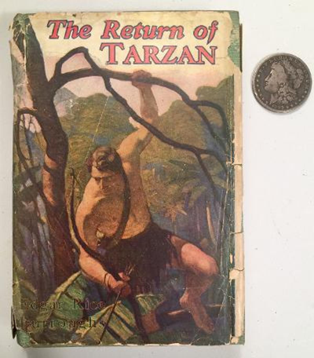 1915 The Return of Tarzan by Edgar Rice Burroughs w/ Dust Jacket Illustrated FIRST EDITION