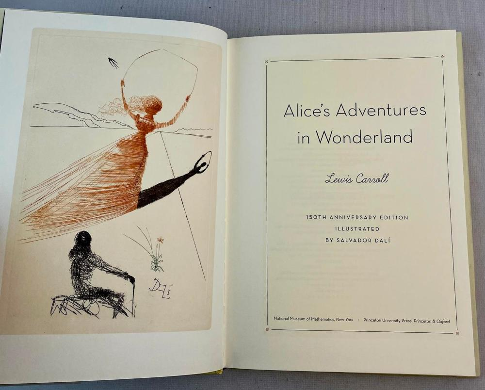Alice's Adventures in Wonderland by Lewis Carroll w/ Dust Jacket 150th Anniversary Edition SALVIDOR DALI Illustrated