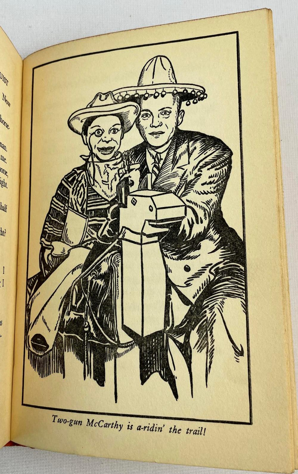 1938 How To Become A Ventriloquist by Edgar Bergen w/ Dust Jacket Illustrated FIRST EDITION