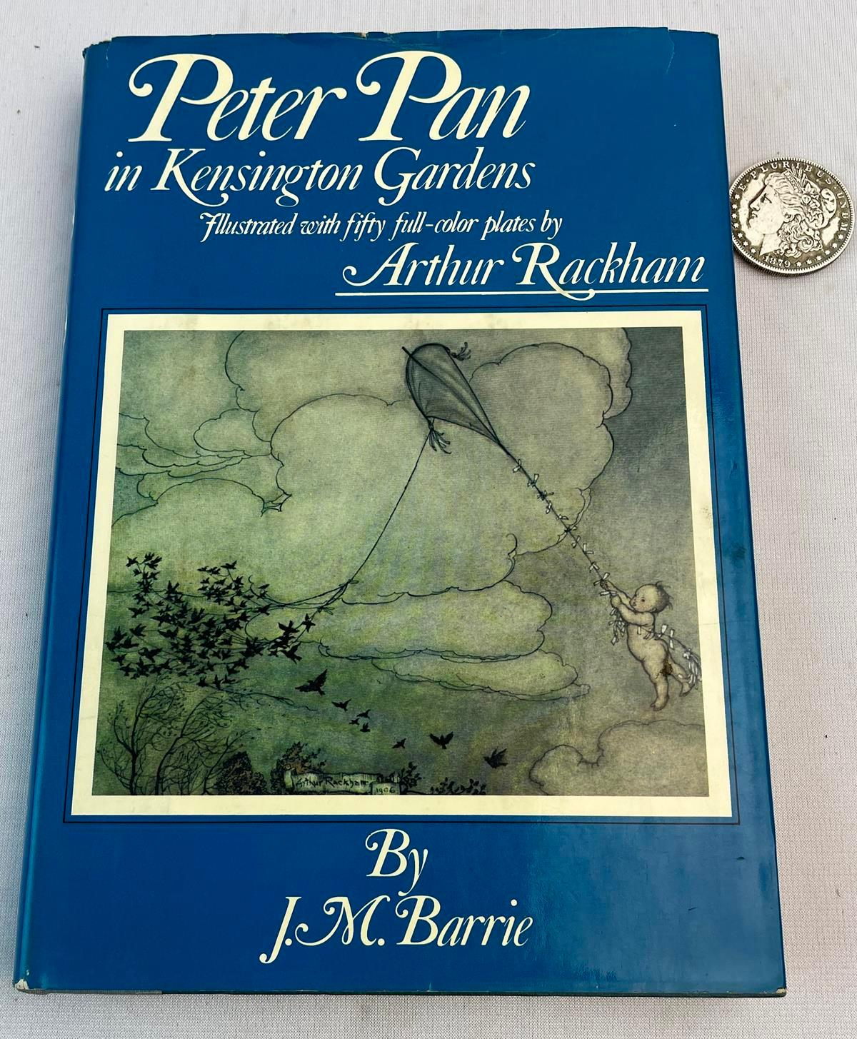 1975 Peter Pan in Kensington Gardens by J.M. Barrie w/ Dust Jacket ILLUSTRATED by Arthur Rackham