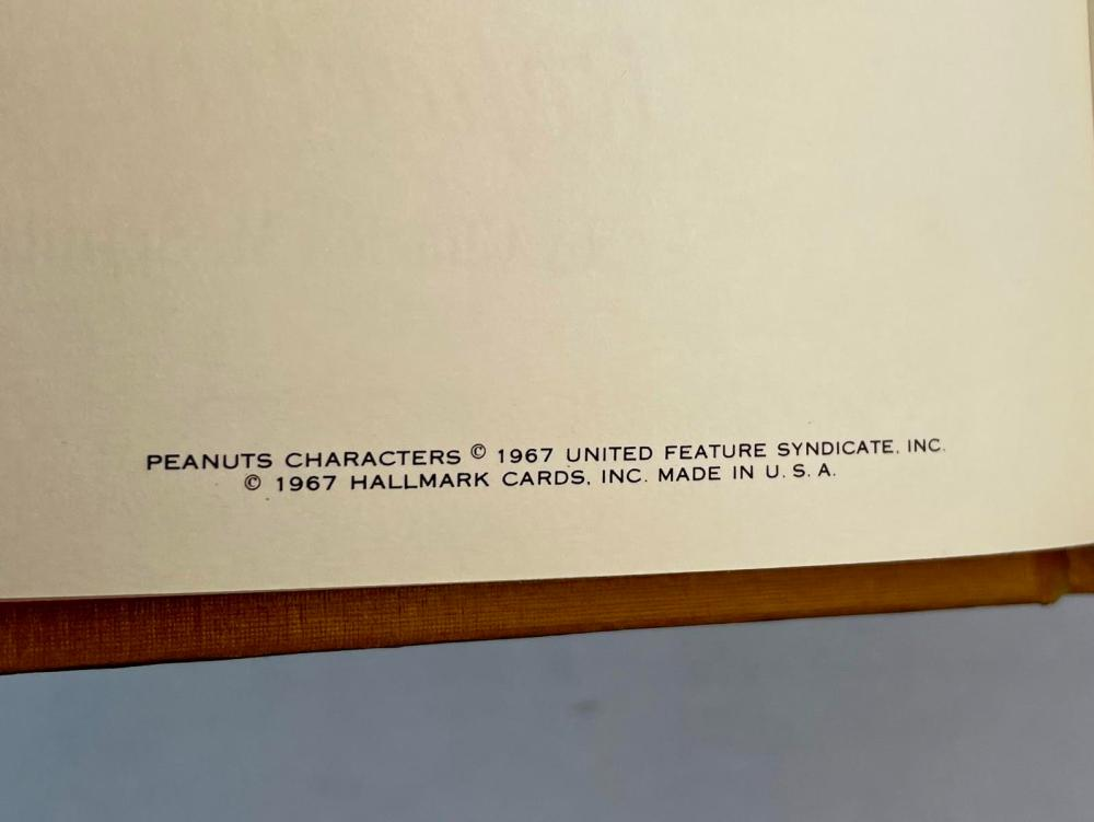 1967 Peanuts: Charlie Brown's Reflections by Charles M. Schulz Illustrated FIRST EDITION