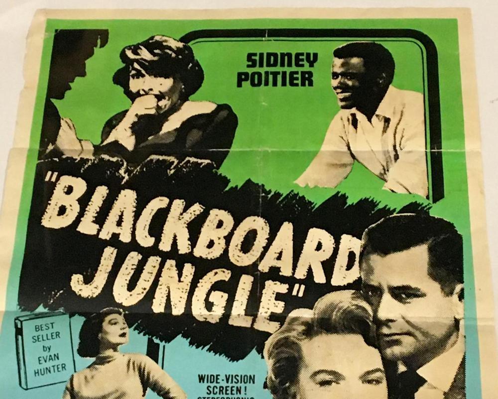 Blackboard jungle Glenn Ford vintage movie poster print