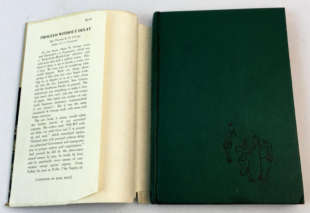 1945 Proceed Without Delay by Thomas R. St. George w/ Dust Jacket FIRST EDITION