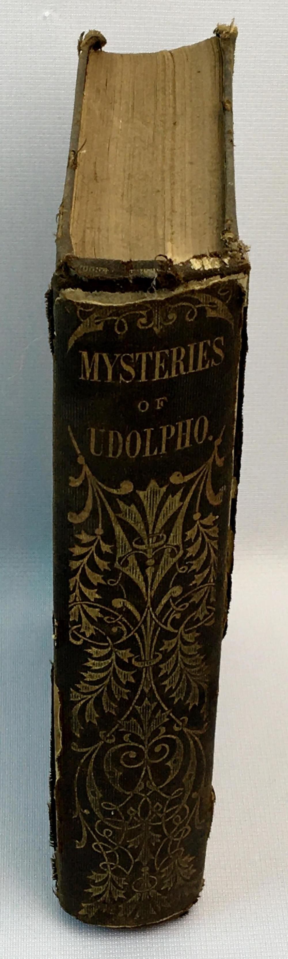 1859 The Mysteries of Udolpho by Mrs. Ann Radcliffe Complete in One Volume