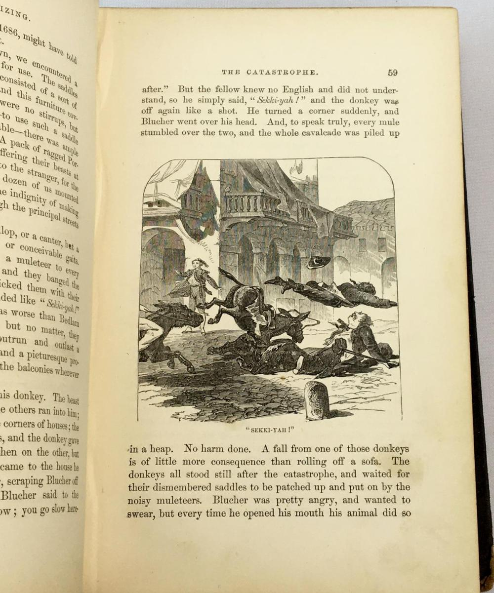 1869 Innocents Abroad, or the New Pilgrims' Progress by Mark Twain (Samuel L. Clemens) FIRST EDITION
