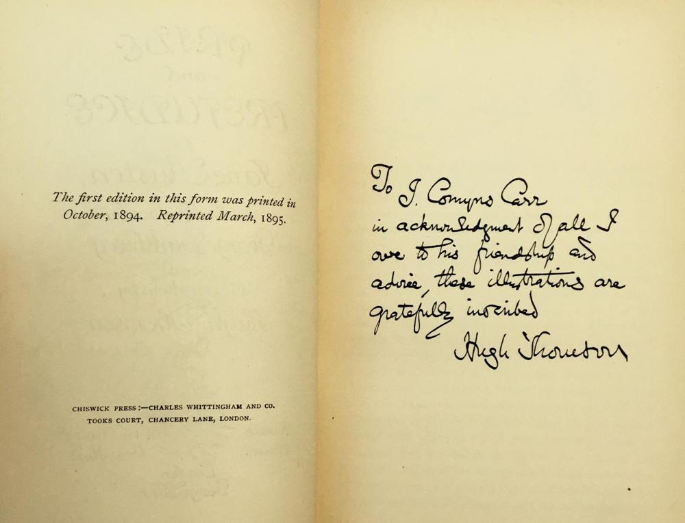 1895 Pride and Prejudice by Jane Austen ILLUSTRATED Hugh Thomson 1st,.S.P.