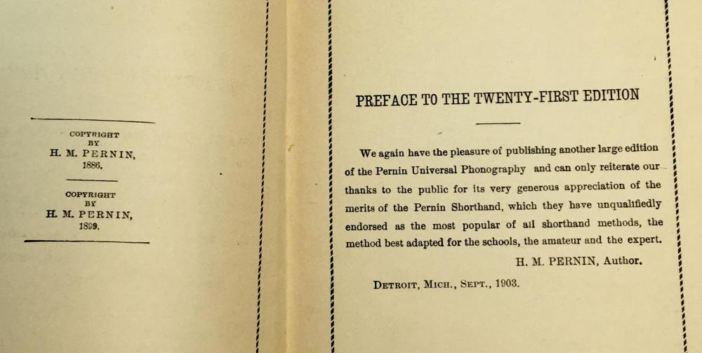 1903 Pernin's Universal Phonography in Ten Lessons by H.M. Pernin