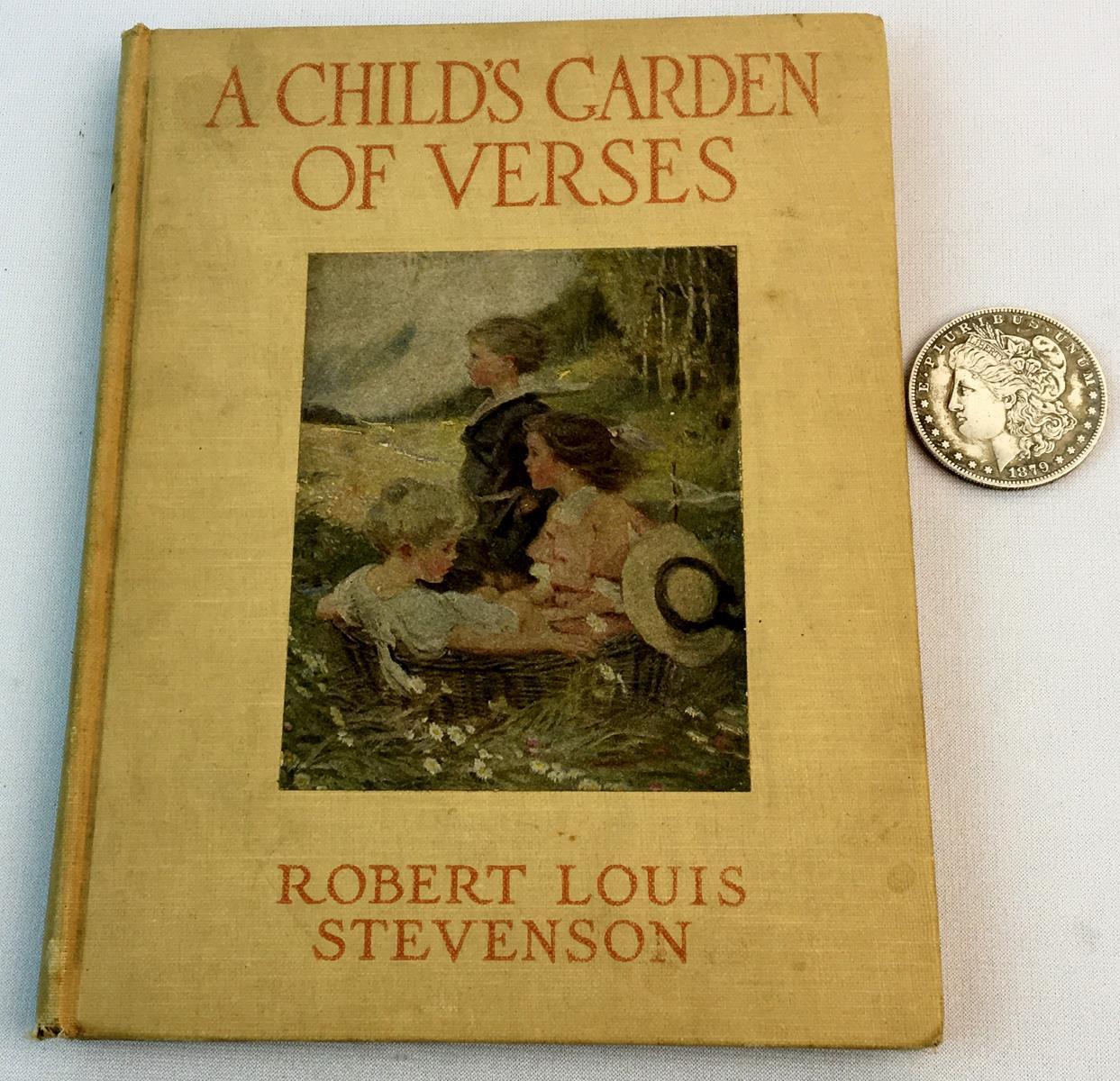 1916 A Child's Garden of Verses by Robert Louis Stevenson ILLUSTRATED