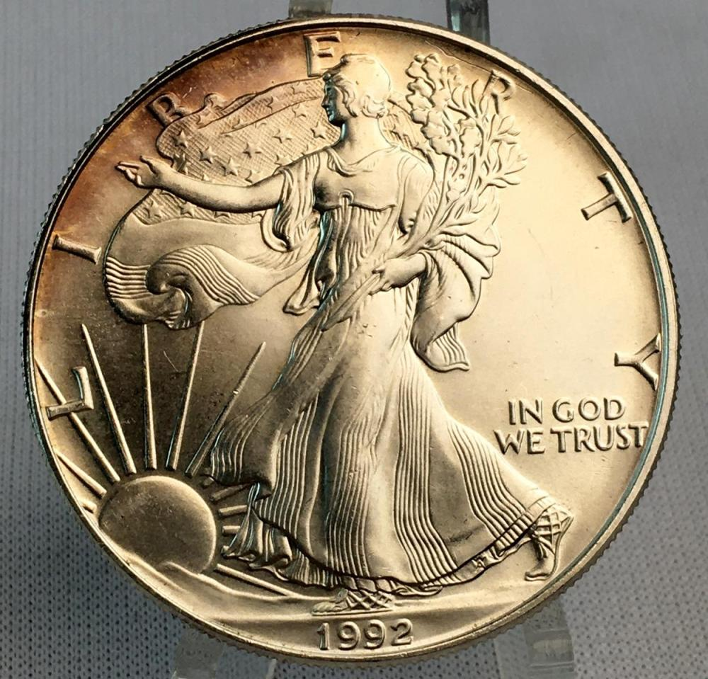 1992 US Silver Eagle 1 Oz Fine Silver Dollar