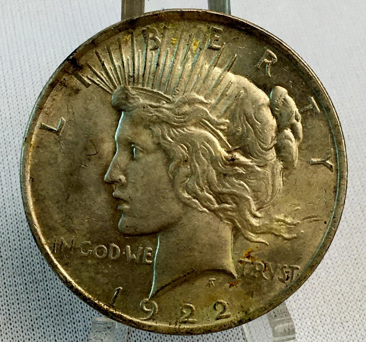 1922 US $1 Peace Silver Dollar