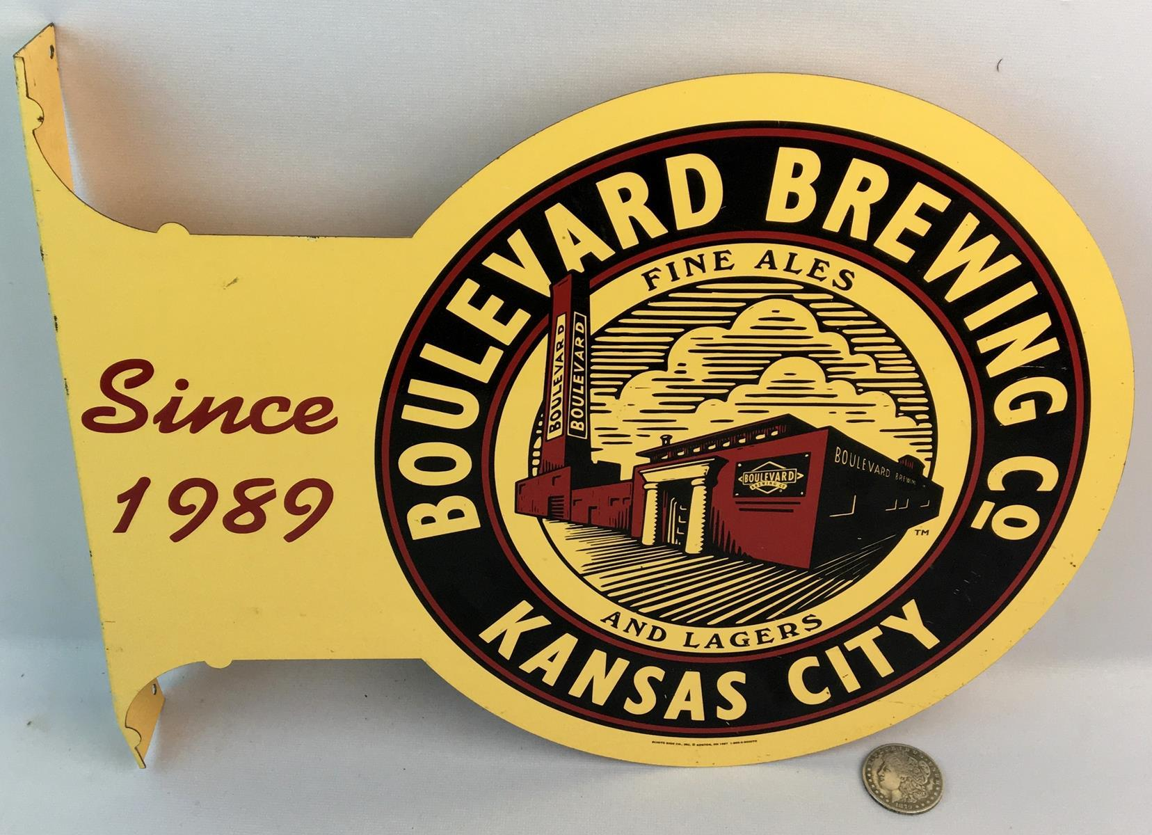 Vintage Boulevard Brewing Co. Kansas City Flange Sign