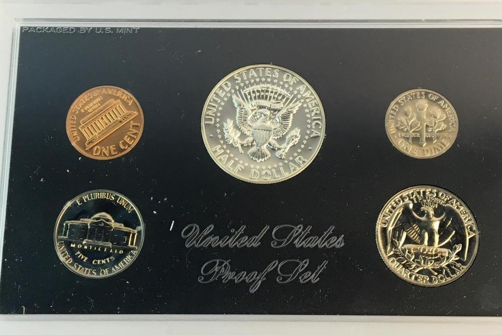 1968 US Silver Half Dollar 5 Coin Proof Set w/ Blue Envelope